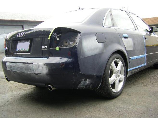 Audi quarter panel repair