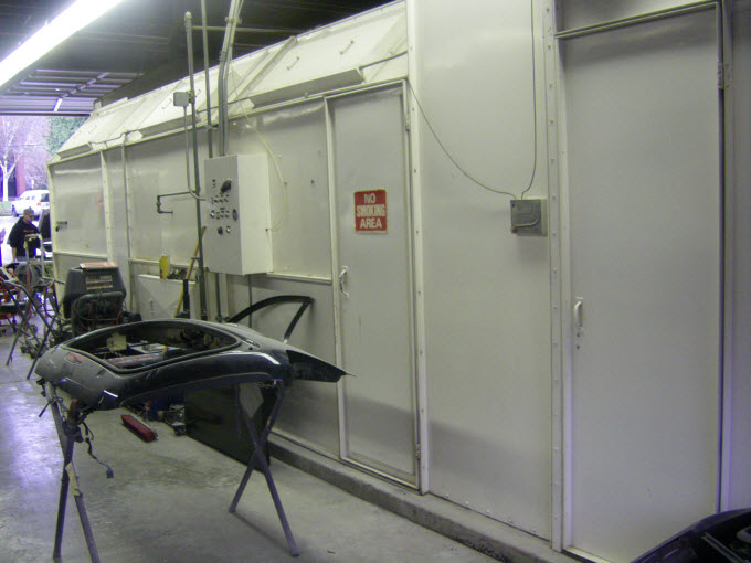 heated downdraft automotive paint booth