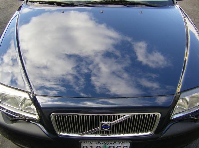 repaint Volvo hood